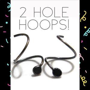 925SS Double Piercing Hoops